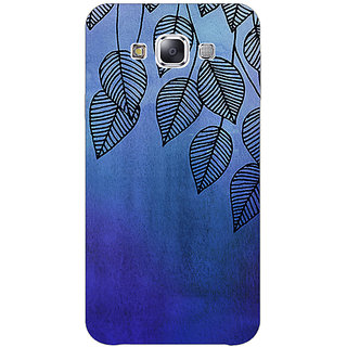 Absinthe Blue Leaves Pattern Back Cover Case For Samsung Galaxy J5