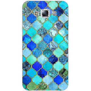 Absinthe Dark Blue Moroccan Tiles Pattern Back Cover Case For Samsung Galaxy J5