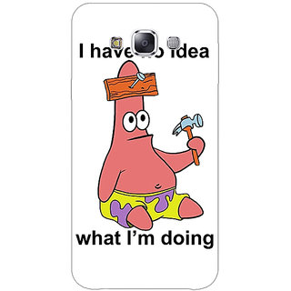 Absinthe Spongebob Patrick Back Cover Case For Samsung Galaxy J3