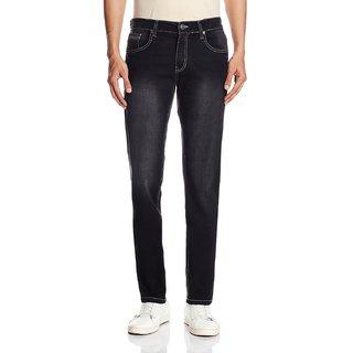 Men's Straight Fit Black Jeans