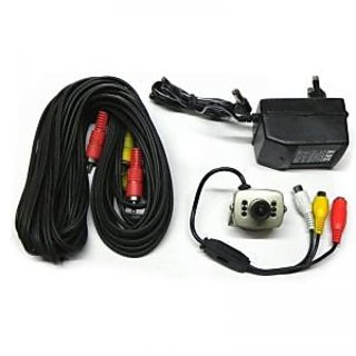 Security Cctv Camera 6 Infra Red LED With Power Adapter And AV Cable