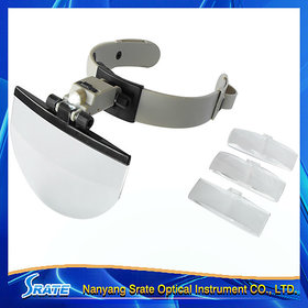 2X 3.8X 4.5X 5.5X Multi Power Helmet Magnifier Head Magnifying Glass Loupe with