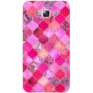 Absinthe Pink Moroccan Tiles Pattern Back Cover Case For Samsung Galaxy J7