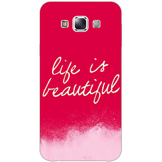 Absinthe Quotes Life is Beautiful Back Cover Case For Samsung Galaxy J3