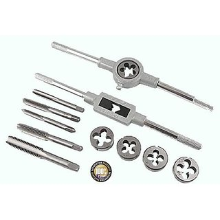 brand New 12 Pcs Tap Die Set Adjustable Tap Wrench Screw Die instock Set M6 x 1
