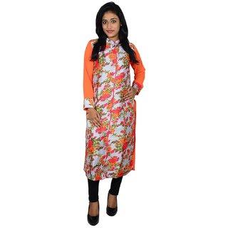 khushee orange color Cotton kurti
