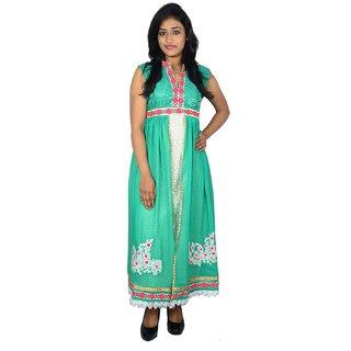 khushee green color Cotton kurti