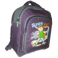 Apnav Wine-Gray Kids School Bag