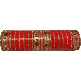 Kaushal Bharat Acrylic Punjabi Bridal Red Chura