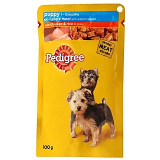 Pedigree Puppy Pouch Chicken and Rice in Gravy Dog Food...