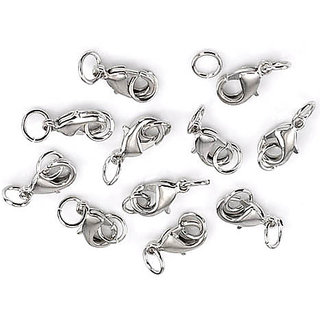 20PCs Silver Tone Lobster Clasp Findings W/ Jump Rings 20PCs Silver Tone Lobster