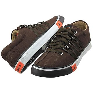 Sparx Mens Brown Lace-up Sneakers