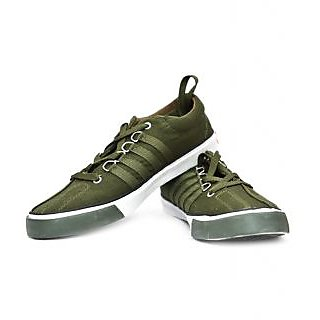 Buy Sparx SC-162 Orange Green Stylish Canvas Men's Shoes Online at Best Price in India