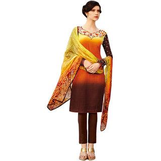 Sinina Womens Cotton Jacquard Salwar Kameez Un Stitched Dress Material