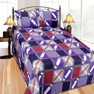 FURNISHING ZONE HIGH QUALITY PRINTED BED SHEET WITH 2 PILLOW COVER