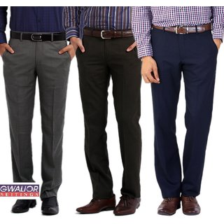 Gwalior Suiting Combo of 3 Unstitched Trousers