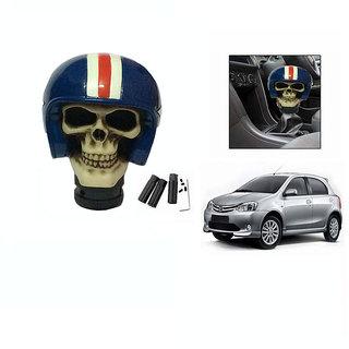 Takecare Stylish Helmet Gear Knob For Toyota Etios Liva