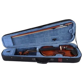 Sg Musical Brown Violin With Rosin, Bow  Case Sdl251957661