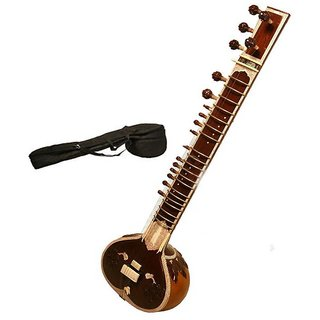 Sg Musical Sg Musicalsitar Dark Wood Colour With Free Carry Case. Sdl671121923