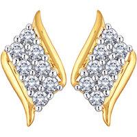 Myzevar Ratnalis 14kt Diamond Gold Stud Earring