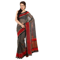 Parchayee Black Georgette Printed Saree With Blouse
