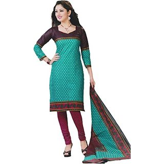 Shree Ganesh Cotton Printed Salwar Suit Material (FABDRUP7DGHABEMJ)