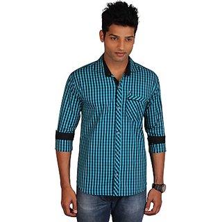 E-Color MenS Checkered Casual Shirt (SHTE5YNU82GSAYFF)