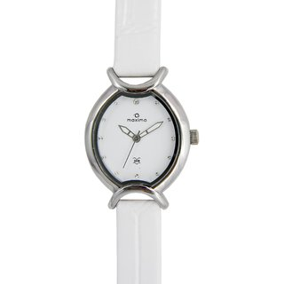 Maxima Quartz White Square Women Watch 24681LMLI