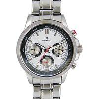 Maxima Quartz White Round Men Watch 27550CMGI