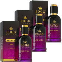 FOGG Scent Make My Day Eau De Parfum Spray For WoMen(90 ml)( pack of 3 pcs)