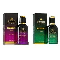 FOGG Scent Make My Day AND I M A QUEEN Eau De Parfum Spray For WoMen(90 ml each)