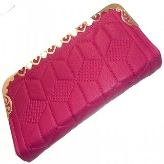 8465fe3d0cd Stylish Ladies /girl/woman hand purse,wallet,clutch,Maroon colour  (Synthetic leather/Rexine)