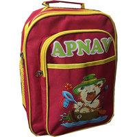 Apnav Red-Yellow Kids School Bag