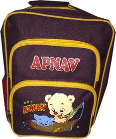 Apnav Wine-Yellow School Bag