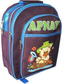 Apnav Wine-Blue Kids School Bag