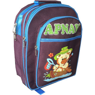Apnav Wine-Blue Kids School Bag
