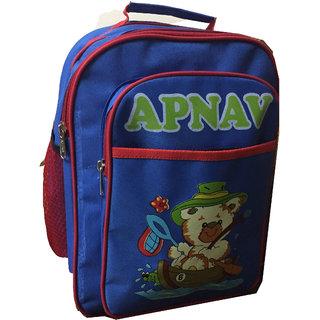 Apnav Blue-Red Kids School Bag
