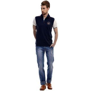 Revolt Mens Light Blue Slim Fit Jeans