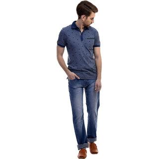 Revolt Mens Light Blue Slim Fit Cotton Jeans