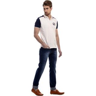 Revolt Mens Dark Blue Slim Fit Stretchable Cotton Jeans
