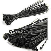 10 250mm LOT 500PCS Locking BLACK Nylon Plastic Cable Ties Zip Wire Wrap