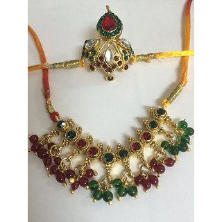 Krishna ji mukut and neckless 1 by 1 size