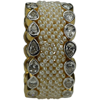 UpperGirdle Cocktail 18 KT YELLOW GOLD Party Wear Diamond Ring for women