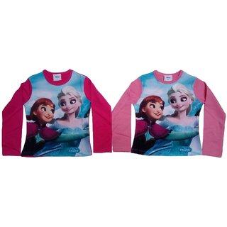 Sonpra Kids Disnep Girl Quality Printed Cotton T-Shirts