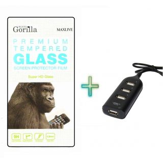 Screen Tempered Glass For Gionee Pioneer P2 With Free Usb Hub
