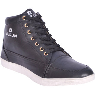 2fd249f2f3f5 Buy Sukun Mens Black Lace-up Smart Casuals Shoes Online   ₹499 from  ShopClues