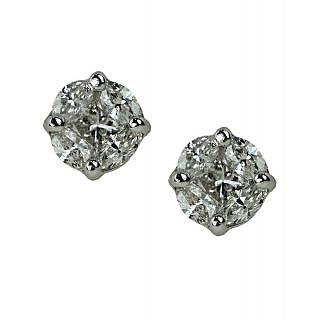 UpperGirdle White Gold Diamond Earring for WomenMET683/150