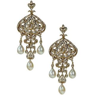 UpperGirdle White Gold Diamond Earring for WomenM BO IN 03