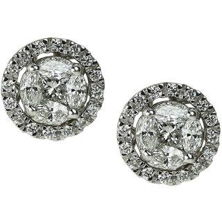UpperGirdle White Gold Diamond Earring for WomenMET733/50