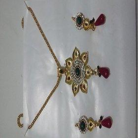 Oviya Gold Plated Necklace set